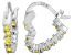 Bella Luce® 1.20ctw Yellow Diamond Simulant Rhodium Over Silver Hoop Earrings
