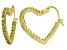 Bella Luce® 2.88ctw Yellow Diamond Simulant 18k Over Silver Hoop Earrings