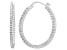 Bella Luce® 5.52ctw Diamond Simulant Rhodium Over Silver Oval Hoop Earrings