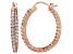 Bella Luce® 3.72ctw Diamond Simulant 18k Rose Gold Over Silver Hoop Earrings