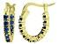 Bella Luce® 1.32ctw Tanzanite Simulant 18k Over Silver Oval Hoop Earrings