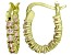 Bella Luce® 1.32ctw Champagne Diamond Simulant 18k Over Silver Hoop Earrings