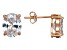 Bella Luce® 8.36ctw Oval Diamond Simulant Rose Gold Over Silver Earrings