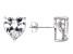 Bella Luce® 10.70ctw Heart Shape Diamond Simulant Rhodium Over Silver Earrings