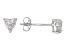 Bella Luce® .85ctw Heart Shape Diamond Simulant Rhodium Over Silver Earrings