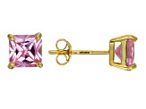 Bella Luce® 3.20ctw Square Pink Diamond Simulant 18k Over Silver Earrings