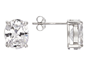 Bella Luce® 8.36ctw Diamond Simulant Rhodium Over Silver Solitaire Earrings
