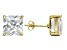 Bella Luce® 14.40ctw Square Diamond Simulant 18k Over Silver Solitaire Earrings
