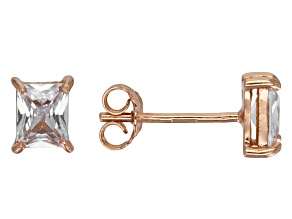 Bella Luce® 1.28ctw Emerald Cut Diamond Simulant Rose Gold Over Silver Earrings