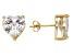Bella Luce® 10.70ctw Heart Shape Diamond Simulant 18k Over Silver Earrings