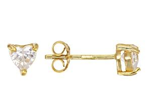 Bella Luce® .85ctw Heart Shape Diamond Simulant 18k Over Silver Earrings