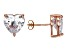 Bella Luce® 10.70ctw Diamond Simulant Rose Gold Over Silver Earrings