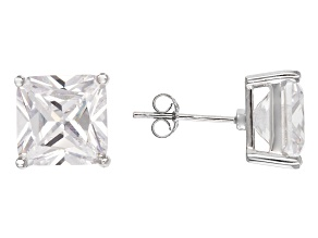 Bella Luce® 14.40ctw Square Diamond Simulant Rhodium Over Silver Earrings
