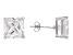 Bella Luce® 14.40ctw Square Diamond Simulant Rhodium Over Silver Earrings