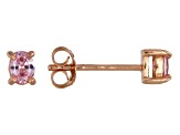 Bella Luce® .54ctw Oval Pink Diamond Simulant Rose Gold Over Silver Earrings