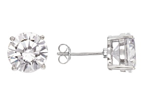 Bella Luce® 12.00ctw Round Diamond Simulant Rhodium Over Silver Earrings