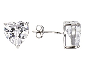 Bella Luce® 9.12ctw Heart Shape Diamond Simulant Rhodium Over Silver Earrings