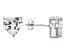 Bella Luce® 9.12ctw Heart Shape Diamond Simulant Rhodium Over Silver Earrings