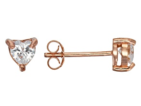 Bella Luce® .85ctw Heart Shape Diamond Simulant Rose Gold Over Silver Earrings