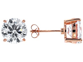 Bella Luce® 12.00ctw Round Diamond Simulant Rose Gold Over Silver Earrings
