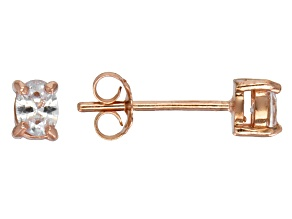 Bella Luce® .48ctw Diamond Simulant Rose Gold Over Silver Solitaire Earrings