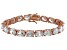 Bella Luce® 58.90ctw Oval Diamond Simulant 18k Rose Gold Over Silver Bracelet