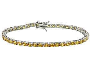 Bella Luce® 10.69ctw Oval Yellow Diamond Simulant Rhodium Over Silver Bracelet