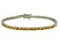 Bella Luce® 10.69ctw Oval Yellow Diamond Simulant Rhodium Over Silver Bracelet