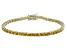 Bella Luce® 10.69ctw Oval Yellow Diamond Simulant 18k Gold Over Silver Bracelet