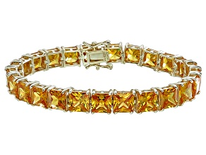 Bella Luce® 62.94ctw Yellow Diamond Simulant 18k Gold Over Silver Bracelet