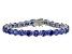 Bella Luce® 35.82ctw Tanzanite Simulant Rhodium Over Silver Tennis Bracelet