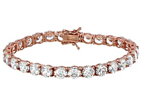 Bella Luce® 35.82ctw Round Diamond Simulant 18k Rose Gold Over Silver Bracelet