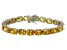 Bella Luce® 58.90ctw Oval Yellow Diamond Simulant Rhodium Over Silver Bracelet