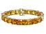 Bella Luce® 104.50ctw Yellow Diamond Simulant 18k Gold Over Silver Bracelet