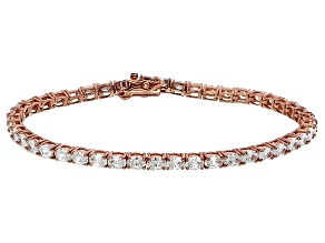 Bella Luce® 10.69ctw Oval Diamond Simulant 18k Rose Gold Over Silver Bracelet