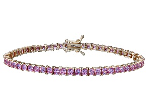 Bella Luce® 12.28ctw Pink Diamond Simulant 18k Yellow Gold Over Silver Bracelet