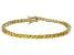 Bella Luce® 9.31ctw Yellow Diamond Simulant 18k Yellow Gold Over Silver Bracelet