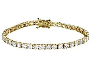 Bella Luce® 16.96ctw Round Diamond Simulant 18k Yellow Gold Over Silver Bracelet