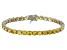 Bella Luce® 25.84ctw Round Yellow Diamond Simulant Rhodium Over Silver Bracelet