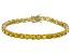 Bella Luce® 25.84ctw Round Yellow Diamond Simulant 18k Gold Over Silver Bracelet