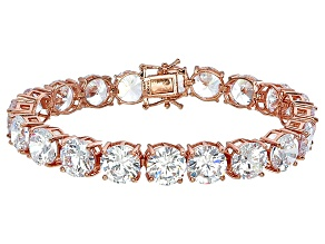 Bella Luce® 90.25ctw Round Diamond Simulant 18k Rose Gold Over Silver Bracelet