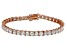 Bella Luce® 17.96ctw Diamond Simulant 18k Rose Gold Over Silver Bracelet