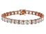 Bella Luce® 48.21ctw Diamond Simulant 18k Rose Gold Over Silver Bracelet