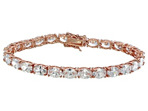 Bella Luce® 24.70ctw Oval Diamond Simulant 18k Rose Gold Over Silver Bracelet