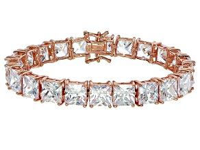Bella Luce® 80.47ctw Diamond Simulant 18k Rose Gold Over Silver Bracelet