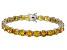 Bella Luce® 53.44ctw Round Yellow Diamond Simulant Rhodium Over Silver Bracelet