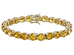 Bella Luce® 53.44ctw Round Yellow Diamond Simulant 18k Gold Over Silver Bracelet