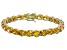 Bella Luce® 53.44ctw Round Yellow Diamond Simulant 18k Gold Over Silver Bracelet
