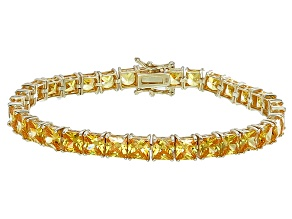 Bella Luce® 35.53ctw Yellow Diamond Simulant 18k Gold Over Silver Bracelet