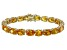 Bella Luce® 58.90ctw Oval Yellow Diamond Simulant 18k Gold Over Silver Bracelet